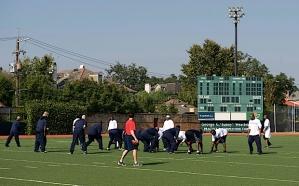 On Saturday afternoon, the team underwent a brief walk-thru under sunny skies and warm temperatues at Tulane University.