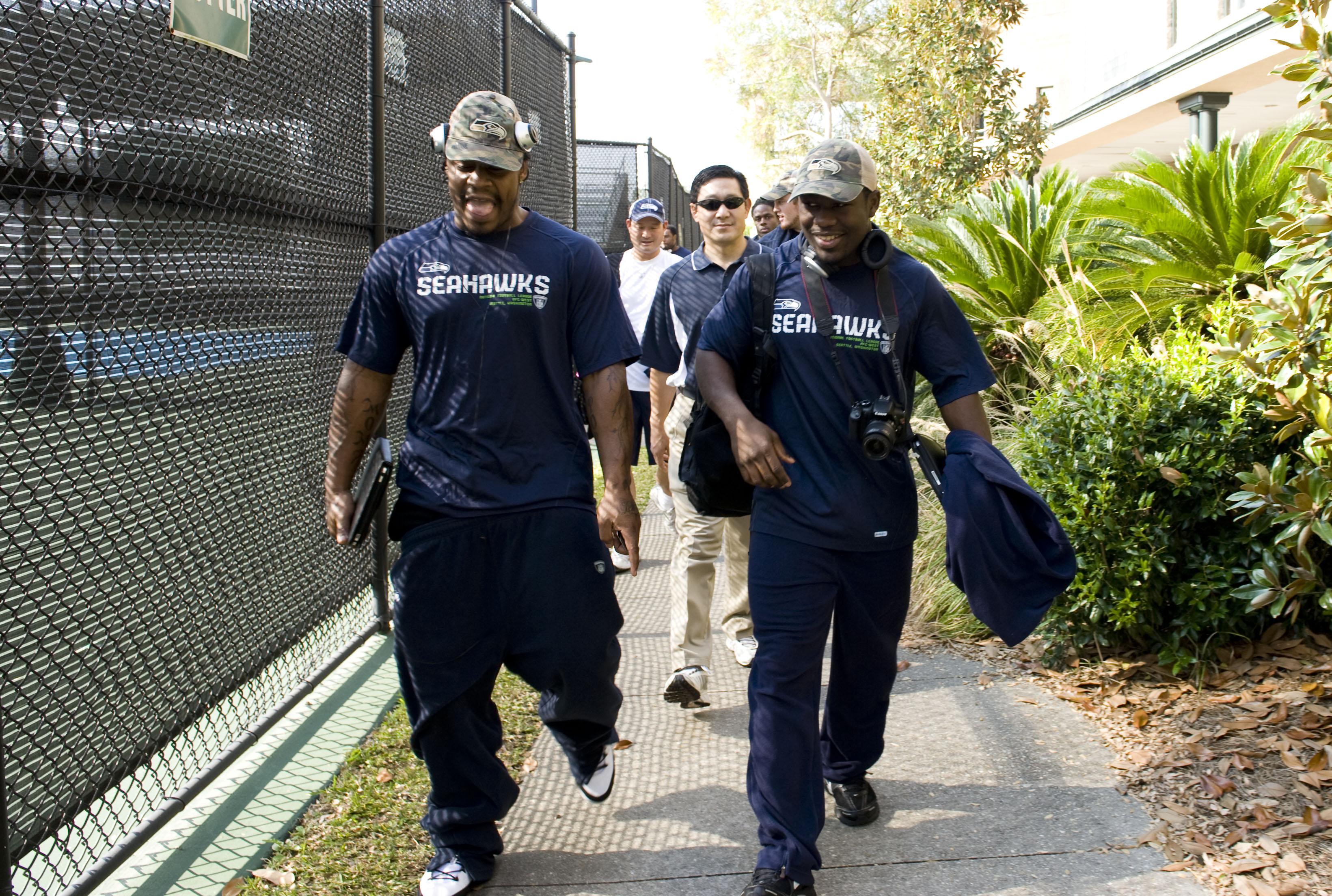 Photo of Marshawn Lynch & his friend