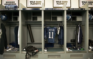 Even though receiver Deon Butler is lost for the season with a broken leg, the team's equipment staff prepared his locker as usual.