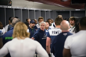 In the locker room after the game, Pete Carroll, reminded the players that despite the loss, they still had an opportunity to play for the NFC West title and a playoff spot at home.