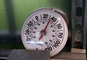 Even though the team practiced inside, temperatures in the team's indoor practice facility were in the 30's.