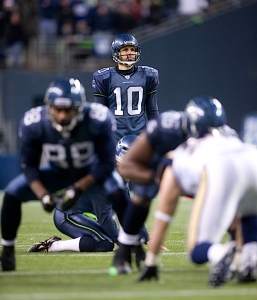 Seattle kicker Olindo Mare kicked three second half field goals including a final 34-yard effort with 1:41 left in the game to cement the win.