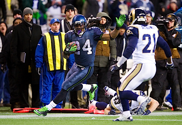 Seattle's Marshawn Lynch helped seal the victory in the fourth quarter as he carried the ball ten times on a 13-play drive to help seal the victory.