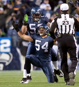 Linebacker Will Herring made the game's biggest defensive play, intercepting a pass by St. Louis quarterback Sam Bradford in the fourth quarter which set the stage for Seattle's final scoring drive.