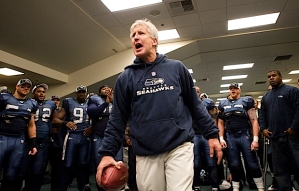 Carroll then urged his team to remember the effort, the concentration and the emotion it took to win the game, and to carry that over to next week's home playoff opener against the defending Super Bowl Champion New Orleans Saints.