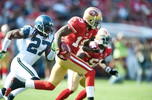However, then San Francisco return specialist Ted Ginn, Jr. took over, returning the ensuing kickoff for a touchdown.
