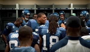 Defensive end Red Bryant has inspiring words for the team before they take the field.