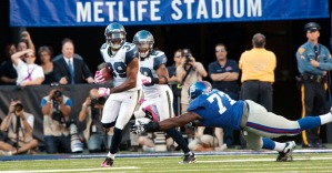 Browner takes off upfield, racing 94 yards for a touchdown to insure Seattle's improbably victory.