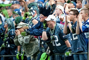 The 12th MAN got rowdy in the second half as the Seahawks rallied from a 24-7 halftime deficit.