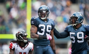 Browner celebrates his hit on Jones.