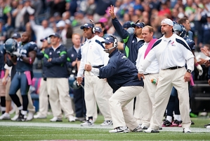 Seattle's defense stiffened in the second half as defensive coodinator Gus Bradley exhorted his players late in the fourth quarter.