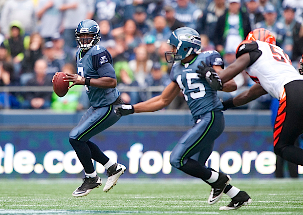 Tarvaris Jackson entered the game and sparked the Seahawks offense, throwing for a career high 323 yards.