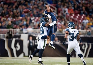 The Rams were determined to test Seahawks cornerback Brandon Browner early and often, and he made a pass defense on former Washington State receiver Brandon Gibson.