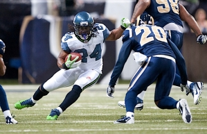 Seattle ran the ball successfully for the third game in a row, with Marshawn Lynch doing the lion's share of the work.