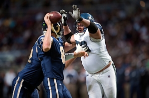 Red Bryant applied pressure on Bradford as well.
