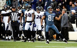 Receiver Golden Tate played well after an injuries to Sidney Rice and Doug Baldwin. Tate celebrates after his huge 24-yard reception on third down that helped seal the victory.