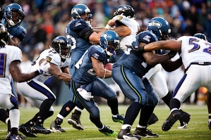 On Seattle's final drive, Marshawn Lynch followed his blocks and the Seahawks killed the clock with a 13-play drive.