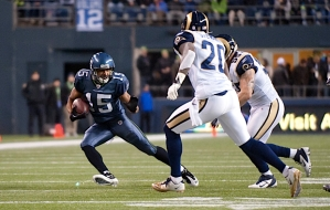 Doug Baldwin continued to improve and impress as he not only caught seven passes for 93 yards and a touchdown, he also blocked a punt that the Seahawks returned for a touchdown.