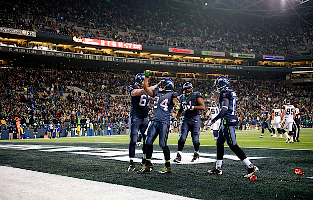 Lynch's 16-yard touchdown late in the fourth quarter sealed the victory for the Seahawks.