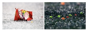 "After Lynch's touchdown, Skittles rained down on the end zone. Skittles are Lynch's ""go-to"" candy before, during and after game as was widely-publicized after his last prime-time performance on Thursday Night Football two weeks ago."