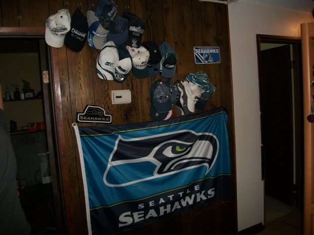 Man Cave On Bet : Seahawks man cave no mom you bet