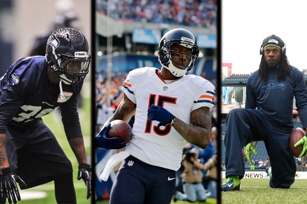 Brandon Browner, Brandon Marshall, Richard Sherman