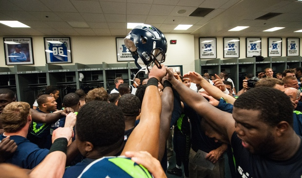 Seahawks Locker Room