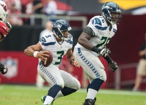 Russell Wilson, Russell Okung