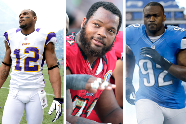 Percy Harvin, Michael Bennett, Cliff Avril