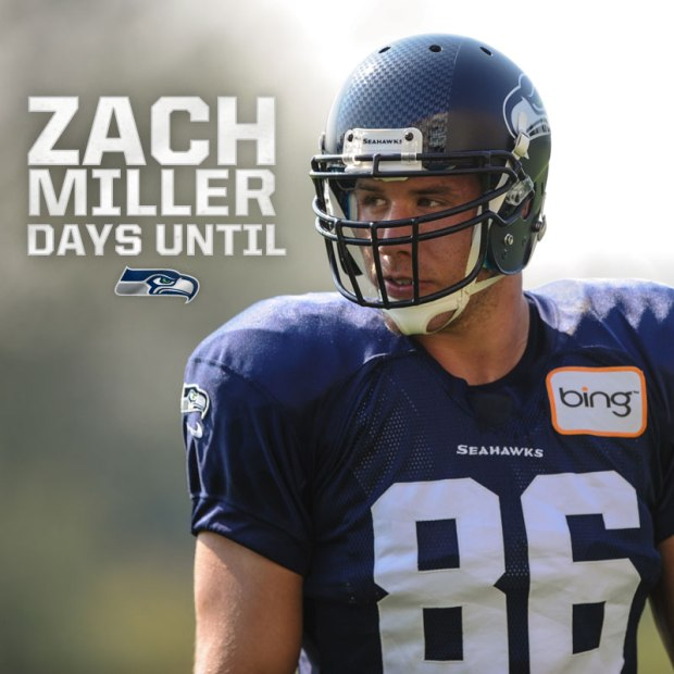 Zach Miller Days until Kickoff